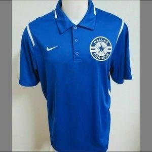 Sz L Blue Nike Dri-Fit Mens db Polyester #59T Polo